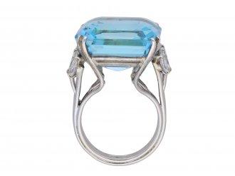 Aquamarine and diamond cocktail ring berganza hatton garden