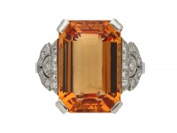 Art Deco Imperial topaz diamond ring berganza hatton garden