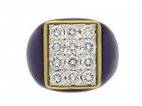 Fred of Paris vintage diamond cluster ring berganza hatton garden