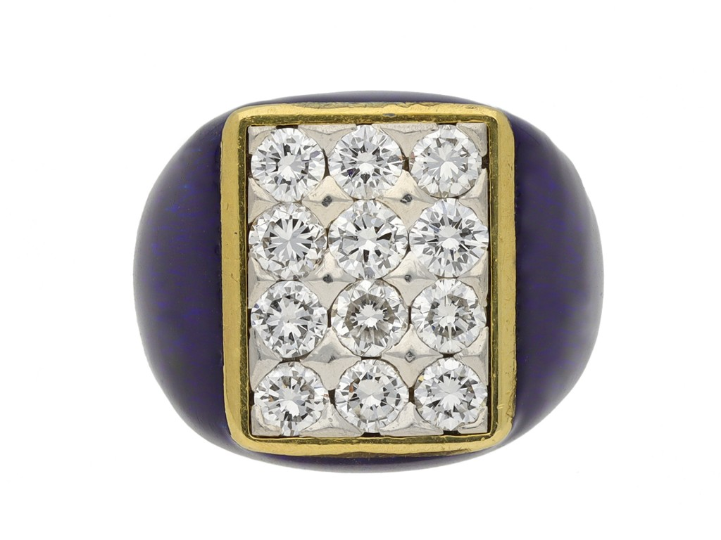 Fred of Paris vintage diamond cluster ring berganza hatton garden