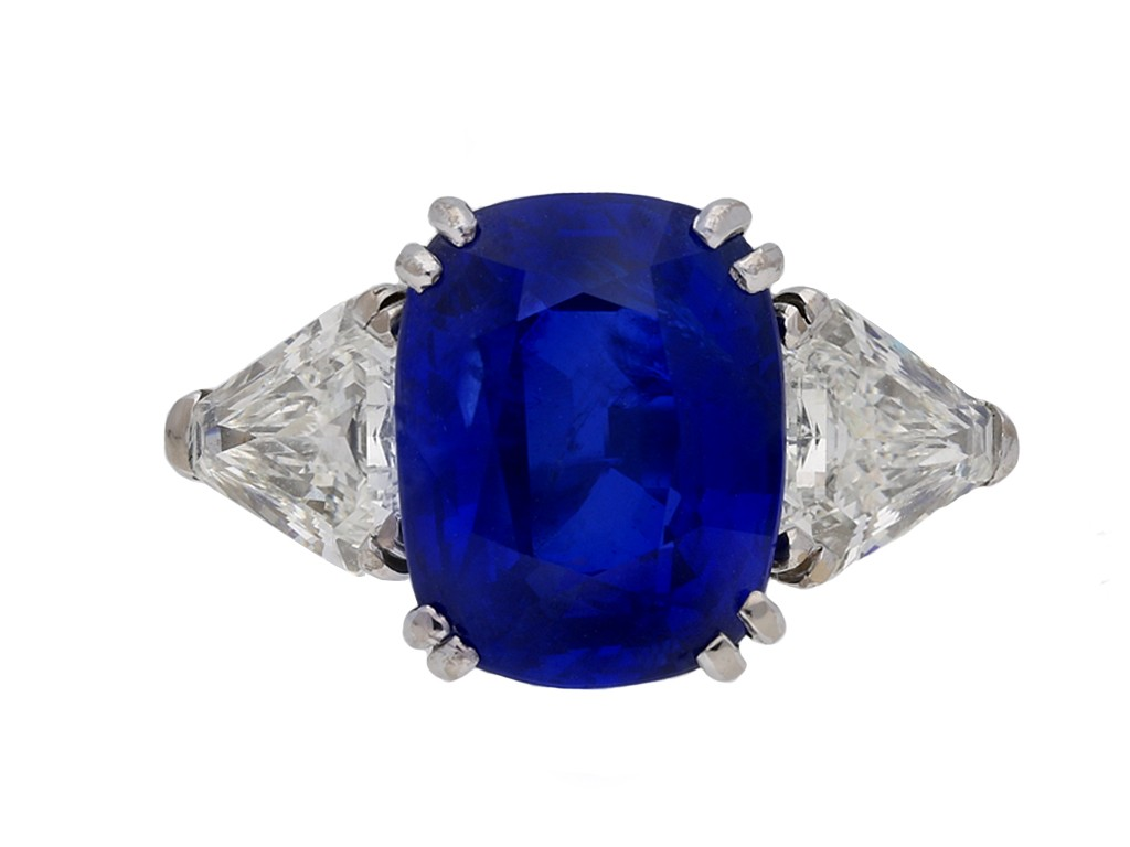 Natural Burmese sapphire diamond ring berganza hatton garden