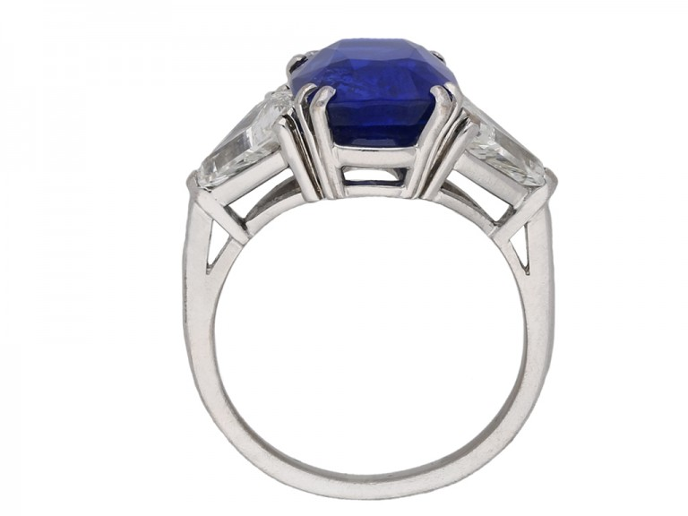 Natural Burmese sapphire diamond ring berganza hatton garden