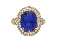 Van Cleef & Arpels Burmese sapphire ring berganza hatton garden