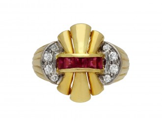 Ruby and diamond cocktail ring berganza hatton garden