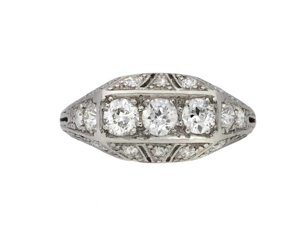 Tiffany & Co diamond cluster ring berganza hatton garden