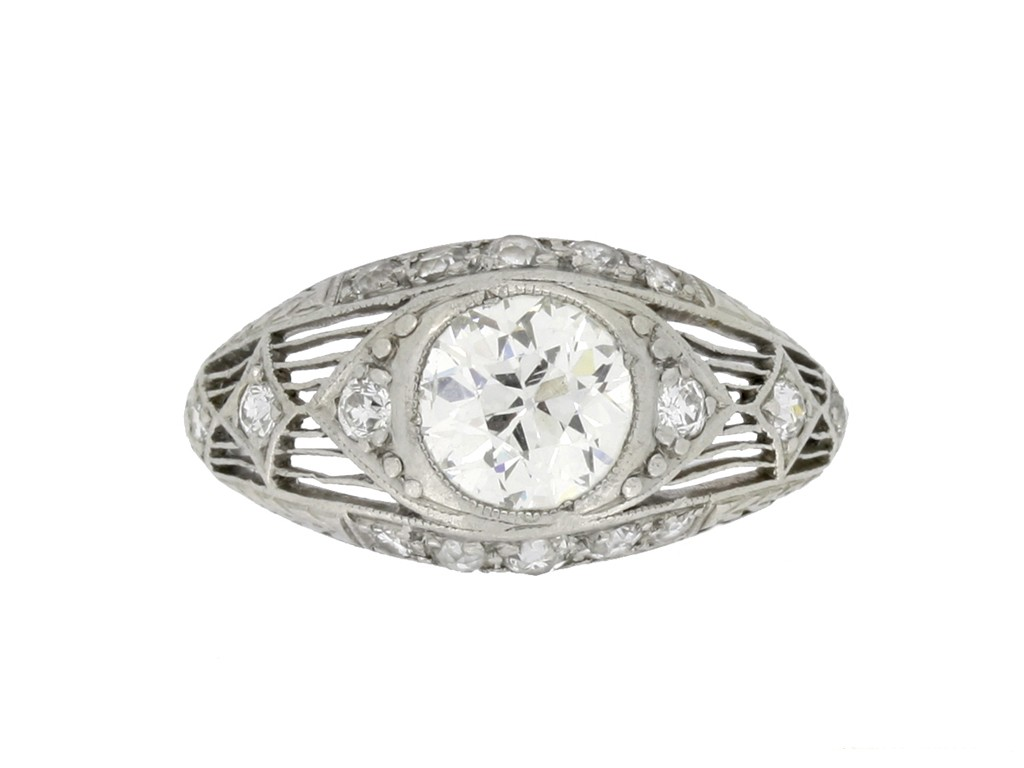 Antique old cut diamond ring berganza hatton garden