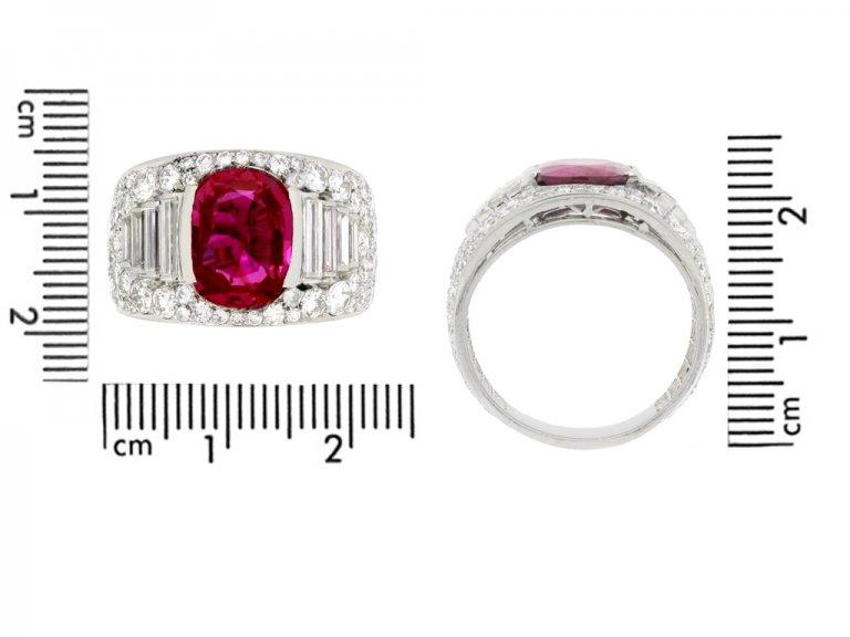 Bulgari Burmese ruby and diamond ring berganza hatton garden
