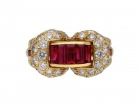 Oscar Heyman ruby diamond cocktail ring berganza hatton garden