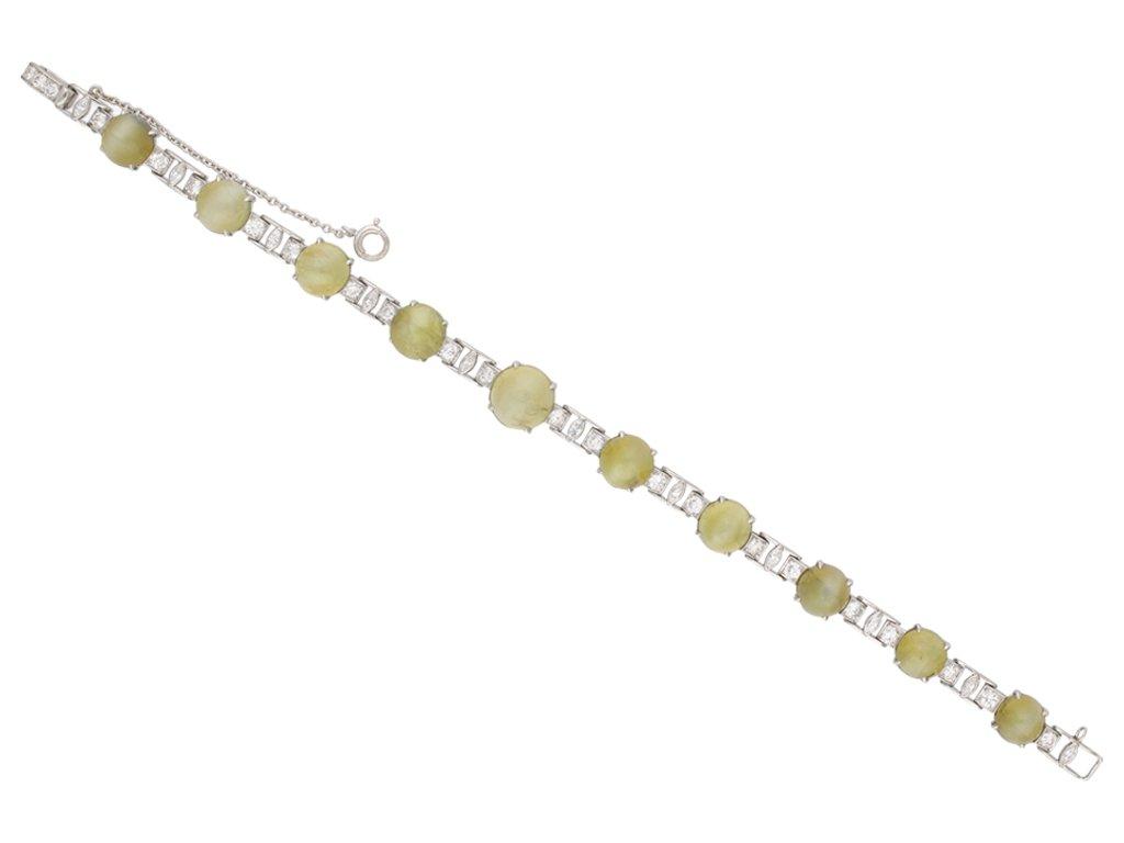 J.E. Caldwell chrysoberyl diamond bracelet berganza hatton garden