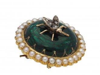 Victorian enamel bug brooch berganza hatton garden