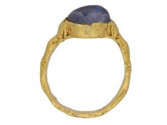 Medieval zoomorphic sapphire ring, berganza hatton garden