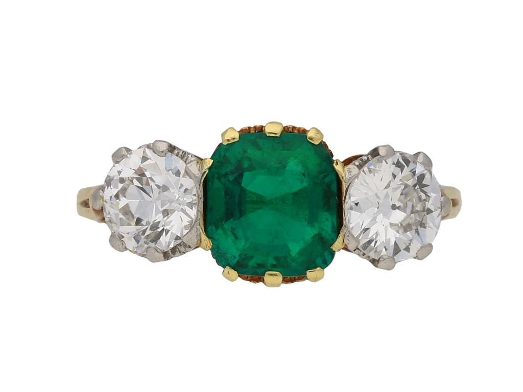Emerald and diamond ring berganza hatton garden