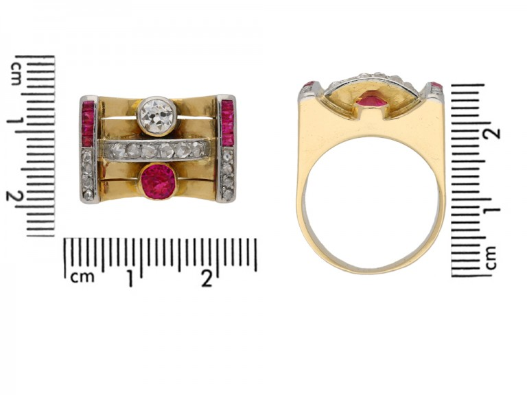 Vintage ruby and diamond cocktail ring berganza hatton garden