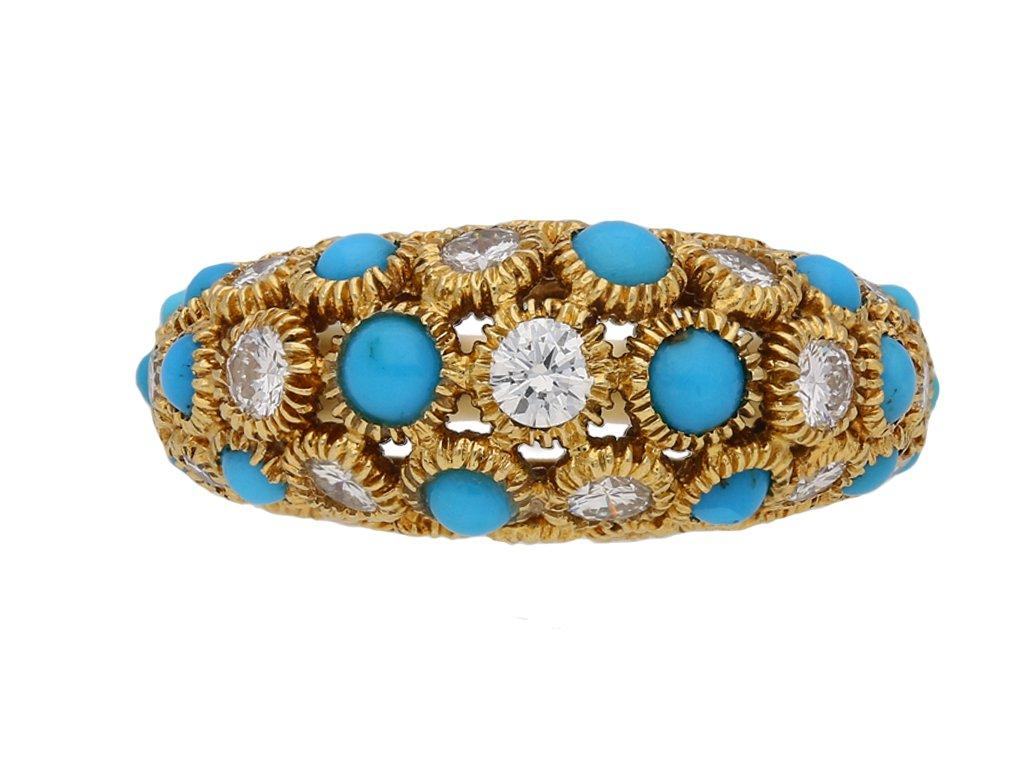 Van Cleef & Arpels turquoise diamond ring berganza hatton garden