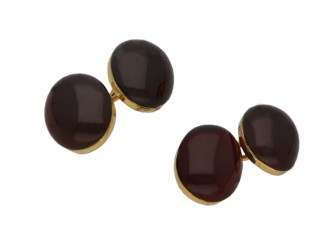 Antique garnet cufflinks hatton garden berganza