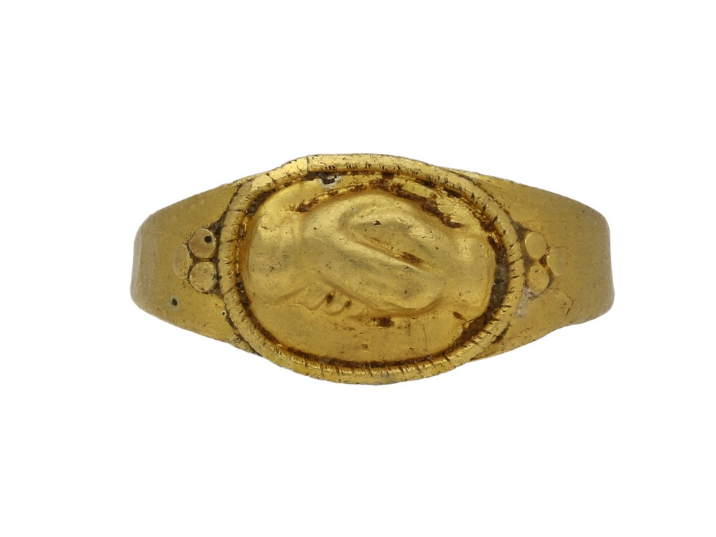 Ancient Roman fede betrothal ring hatton garden berganza