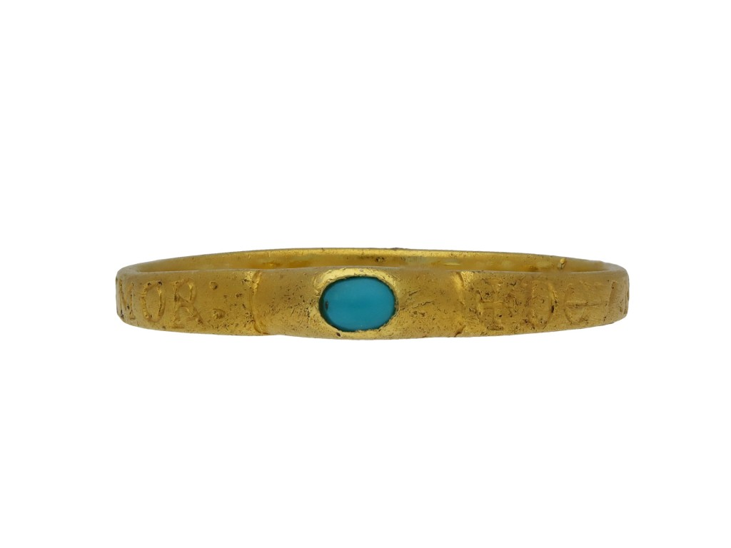 Medieval turquoise bishop's stirrup ring hatton garden berganza