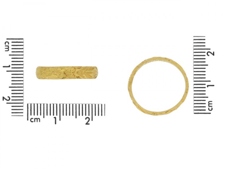 Post Medieval engraved posy ring berganza hatton garden