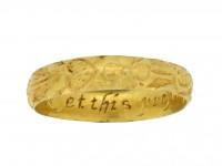 Post Medieval engraved posy ring berganza hatton garden