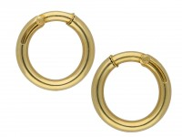 Cartier vintage gold hoop earrings hatton garden berganza