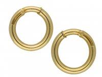 Cartier vintage gold hoop earrings hatton garden berganza