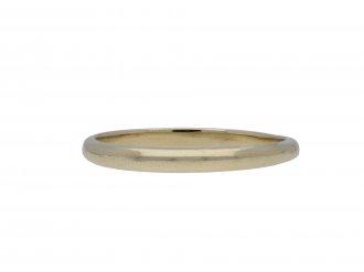 Wedding ring in white gold, French hatton garden