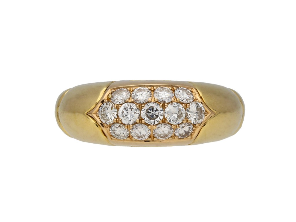 Bulgari vintage diamond cluster ring hatton garden berganza