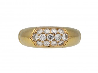 Bulgari vintage diamond cluster ring hatton garden berganza