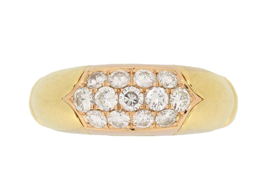 front view Bulgari vintage diamond cluster ring