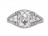 Art Deco diamond engagement ring berganza hatton garden