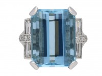 Vintage aquamarine and diamond ring berganza hatton garden