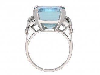 Vintage aquamarine and diamond ring berganza hatton garden