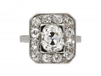 Mellerio Art Deco diamond cluster ring berganza hatton garden