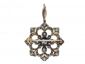 Victorian diamond snowflake pendant/brooch berganza hatton garden