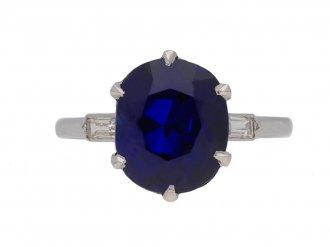 Boucheron Burmese sapphire diamond ring berganza hatton garden