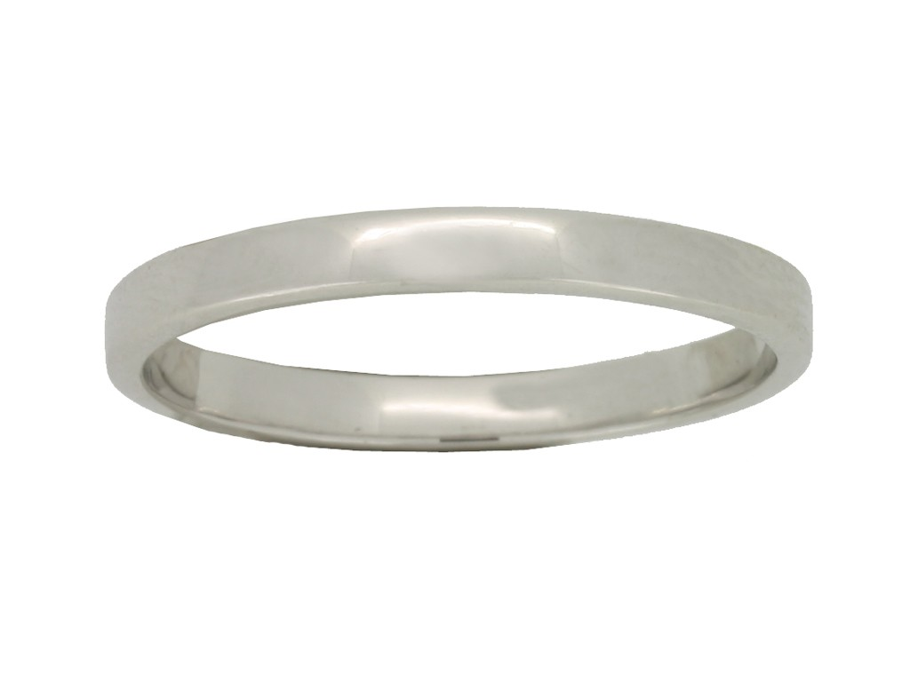 front view Wedding ring in white gold