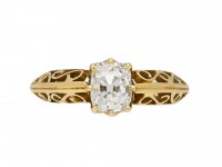 Antique old mine diamond engagement ring, berganza hatton garden