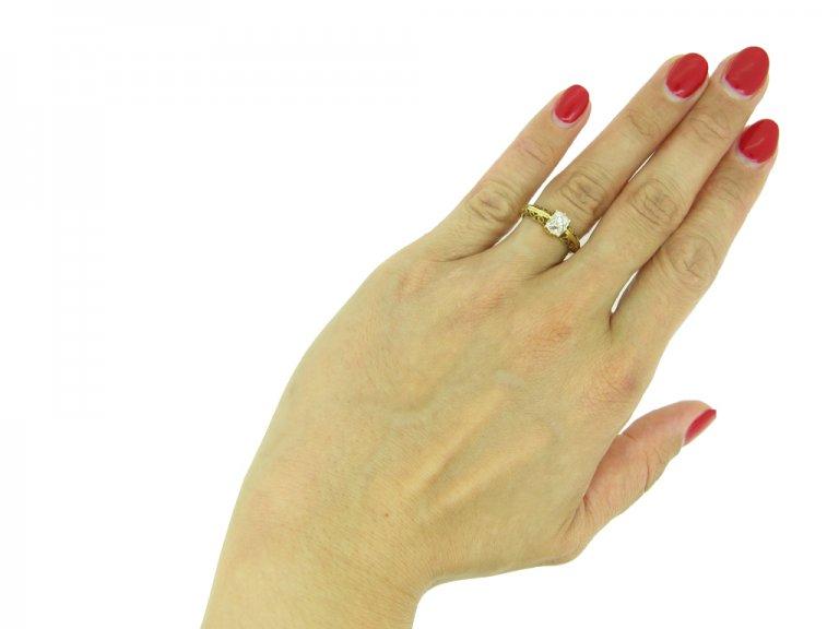 Antique old mine diamond engagement ring, berganza hatton garden