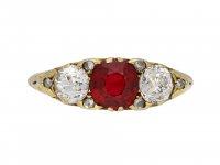 Victorian Burmese red spinel diamond ring berganza hatton garden