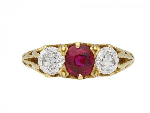 Tiffany & Co ruby diamond ring berganza hatton garden