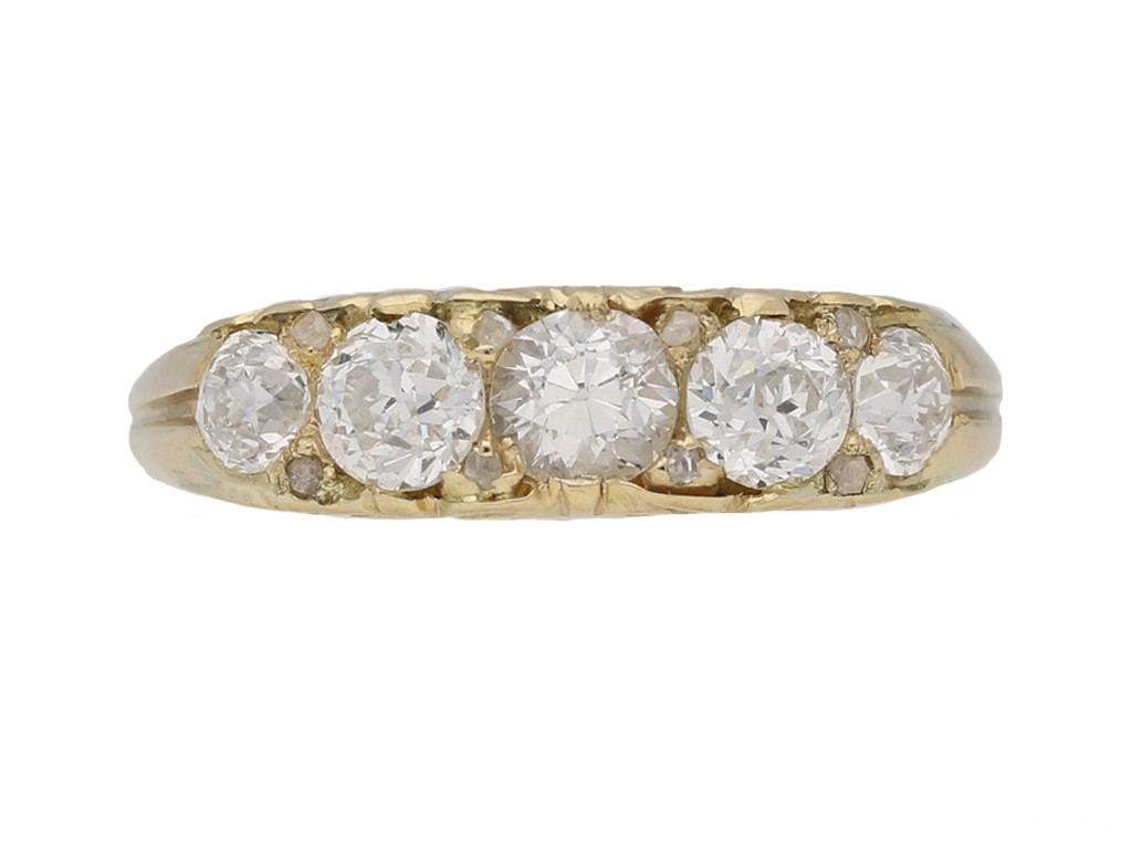 front view antique diamond band ring berganza hatton garden