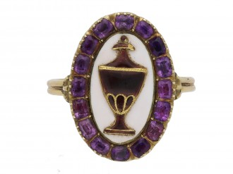 Georgian amethyst and enamel mourning ring berganza hatton garden