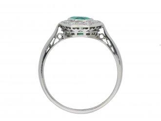 Colombian emerald diamond cluster ring hatton garden