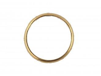 Vintage diamond set wedding ring in red gold hatton garden