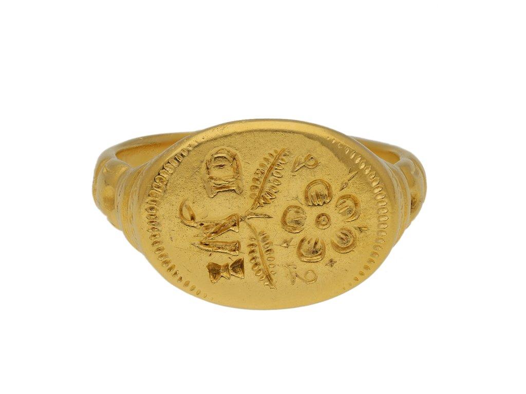 Jacobean gold signet ring berganza hatton garden