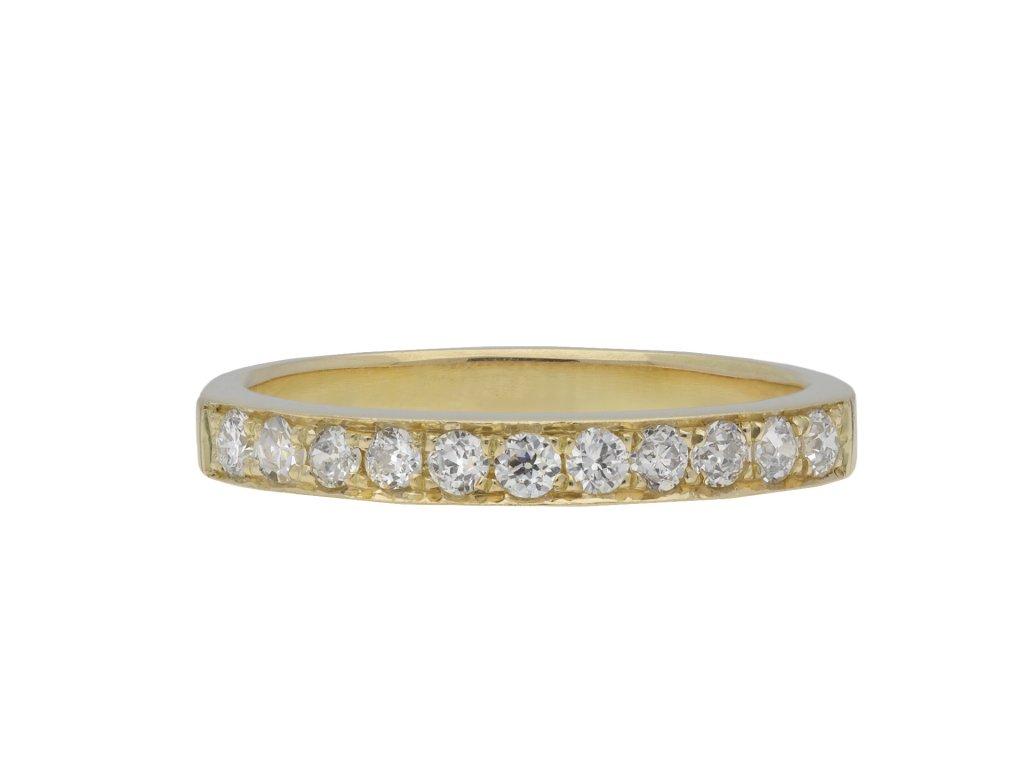 Vintage diamond half eternity ring hatton garden