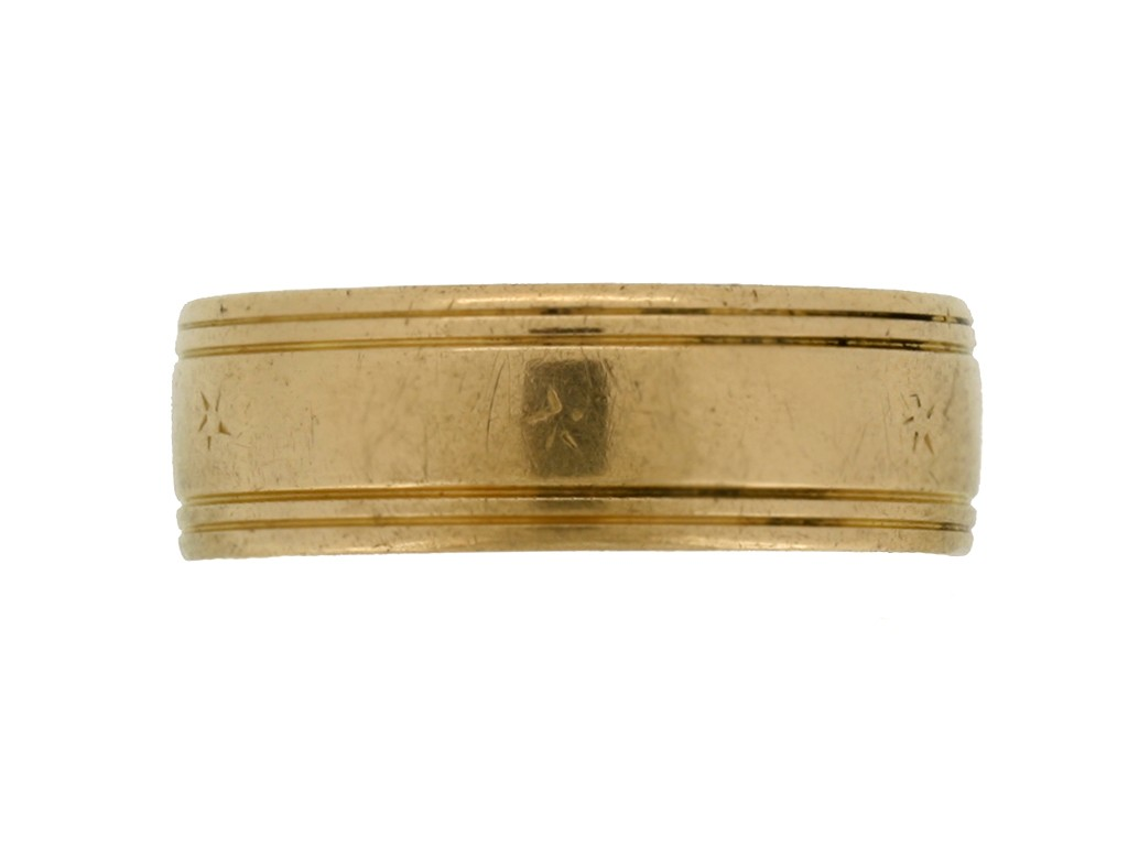 Wedding ring in 18ct yellow gold, circa 1960.