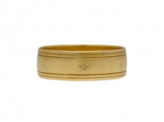 Wedding ring in 18ct yellow gold berganza hatton garden