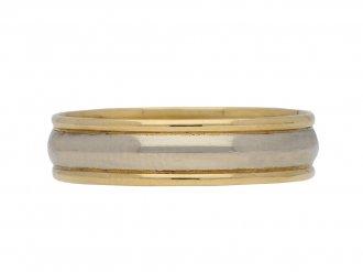 Vintage wedding ring in yellow white gold berganza hatton garden