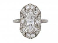 Marquise diamond cluster ring berganza hatton garden